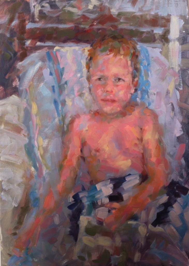 William dans sa serviette