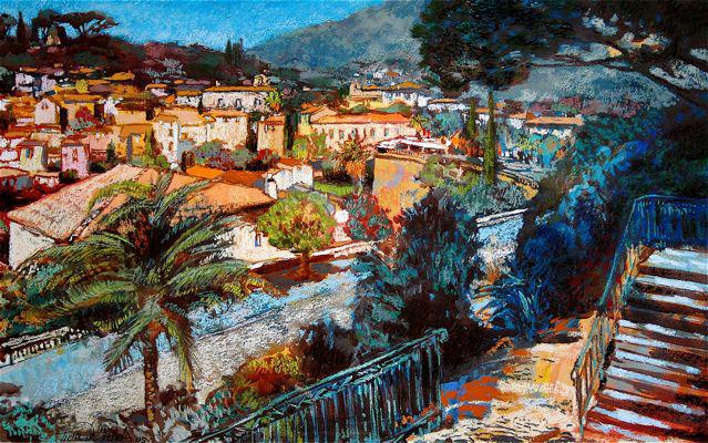 village du sud pastel 80x60