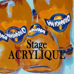 Bouton stage acrylique petit