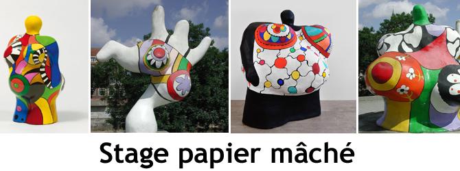 Entete stage papier mache